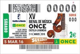 Cupón XV Bienal de Música ONCE