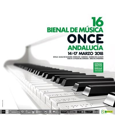 Cartel XVI Bienal de Música ONCE