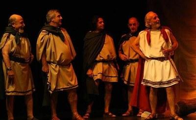 Otra escena del grupo La Porciúncula en la Lisístrata