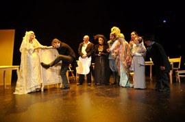El grupo Muxicas en una escena de su obra